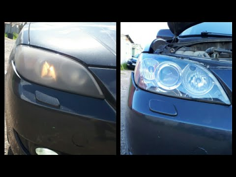 Как Восстановить Фары Mazda 3 ?!