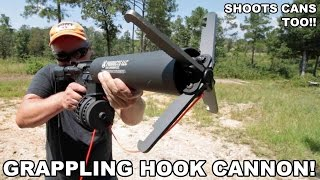 getlinkyoutube.com-Grappling Hook Cannon! Shoots Cans, Too