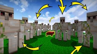 EXTREME IRON GOLEM DEFENSE! | Minecraft Bed Wars