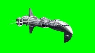 getlinkyoutube.com-space ship in different flights - green screen effect