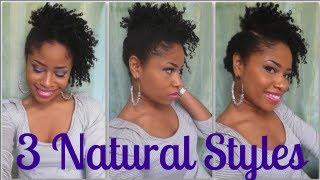 getlinkyoutube.com-Tutorial | 3 Quick Natural Hair Styles! - Short/Med #3
