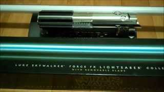 getlinkyoutube.com-Luke Skywalker Episode IV Force FX REMOVABLE BLADE Lightsaber Review