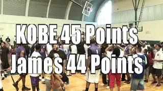 getlinkyoutube.com-KOBE Bryant 45 points VS James  HARDEN 44 points at the Drew League