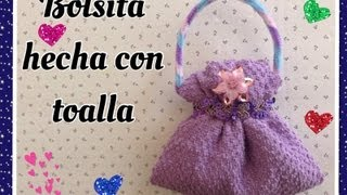 getlinkyoutube.com-BOLSITA HECHA CON UNA TOALLITA FACIAL .- HANDBAG MADE WITH WASHCLOTH.