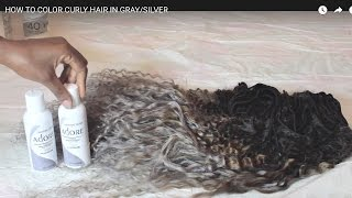 getlinkyoutube.com-HOW TO COLOR CURLY HAIR IN GRAY/SILVER