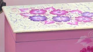 Cómo decorar un baul en pincelada - Hogar Tv  por Juan Gonzalo Angel