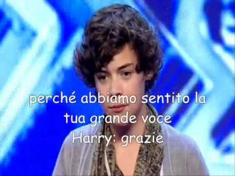 One Direction: provini per  X Factor di Harry Styles (sub.ita) sottotitoli italiano