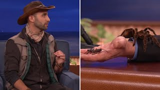 Coyote Peterson Introduces Conan And Jeff Goldblum To Some Creatures  - CONAN on TBS