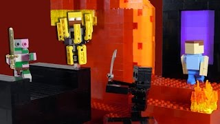 getlinkyoutube.com-LEGO Minecraft Nether | Custom Mob Display