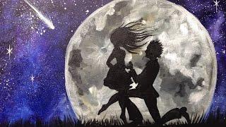 getlinkyoutube.com-Beginner  Acrylic Tutorial | Couple in Love  Painting | The Art sherpa