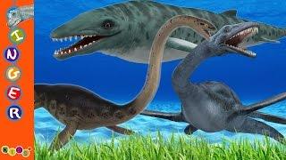 getlinkyoutube.com-3D Dinosaur Sea Animation Finger Family Nursery Rhymes By KidsW