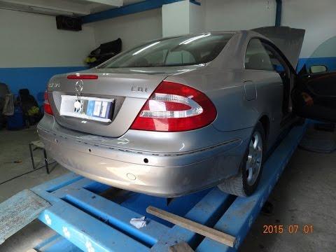 Mercedes-Benz CLK 270. ремонт пластика.