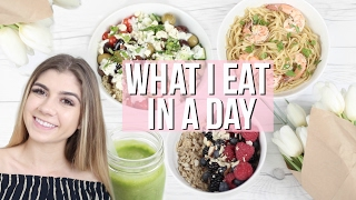 getlinkyoutube.com-WHAT I EAT IN A DAY! Healthy & Easy