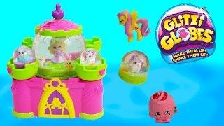 getlinkyoutube.com-Glitzi Globes Princess Castle Water Glitter Playset Pegasus Toy Happy Movies Series Cookieswirlc