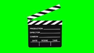 getlinkyoutube.com-Movie Slate animated - green screen effects