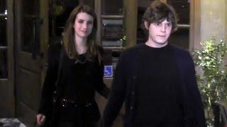 getlinkyoutube.com-Emma Roberts And Boyfriend Evan Peters Attend Jaime King's Birthday Party