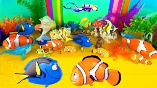 getlinkyoutube.com-New Finding Dory Sea Animals Surprise Toys 3D Puzzle - Dory Nemo Marlin Hank Otter