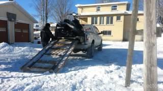 getlinkyoutube.com-Snowmobile loading ramp