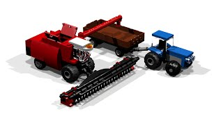 getlinkyoutube.com-How to build a Combine Harvester (Lego Toy)