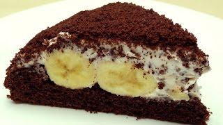 """getlinkyoutube.com-Рецепт торта """"Крот"""" (или """"Норка крота"""") - Шоколадно-банановый торт"""