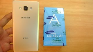 getlinkyoutube.com-Samsung Galaxy A7 GOLD - Unboxing, Setup & First Look HD