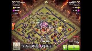 getlinkyoutube.com-TH9 vs TH10 3 Star Mass Witches