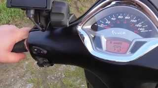 getlinkyoutube.com-Vorstellung: Vespa GTS 300 Super Sport i E  ABS Modell 2014