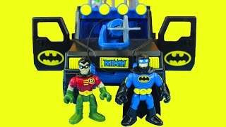Imaginext Batman ATV Super Charged Batman and Robin Fight Joker Batcave