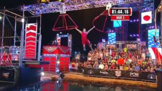 American Ninja Warrior - USA vs the World II 2015 Stage 2 Tomohiro Kawaguchi