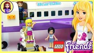 getlinkyoutube.com-Lego Friends Heartlake City Airport Set Unboxing Building Review - Kids Toys
