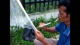 Pembuat Jala pak Dayat/ How to Make a fishing  Net