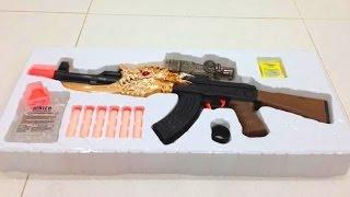 getlinkyoutube.com-2 in 1 AK toy gun shoot Nerf Darts and Paintballs