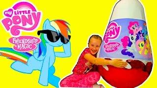 mlp ПОНИ Много пони My Littie Pony гиганское яйцо с пони канал Леночки видео для детей
