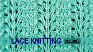 getlinkyoutube.com-Ridged Feather Stitch | Lace Knitting Pattern #4