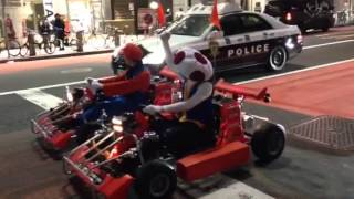 getlinkyoutube.com-ハロウィンで警察にマークされるマリオカート