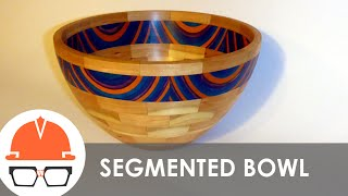 getlinkyoutube.com-Turning a Segmented Bowl on the Lathe - Cherry and Spectraply