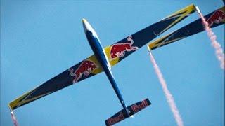 getlinkyoutube.com-2 Red Bull Swift S1 Glider Formation Aerobatics - RC Airshow Display - Aerotow + Landing - AFW2014