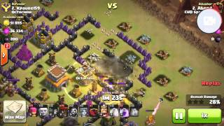 getlinkyoutube.com-Valkyrie and balloon attack at TH8 (3 STAR STRATEGY) Clash of Clans