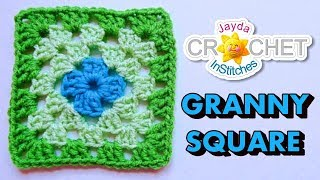 getlinkyoutube.com-How To Crochet a Granny Square - Beginners Tutorial & Basic Pattern