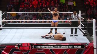 getlinkyoutube.com-Bo Dallas vs. Wade Barrett - Raw Roulette Players Choice Match: Raw, Jan. 28, 2013