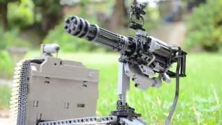 getlinkyoutube.com-LEGO Mini Gun M134 vulcan ( with real functions )