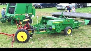 getlinkyoutube.com-Amish Baling Hay Without Engine Power