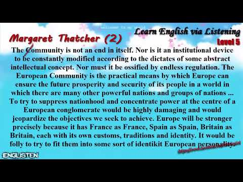 Unit 16 Margaret Thatcher (2) | Learn English via Listening Level 5