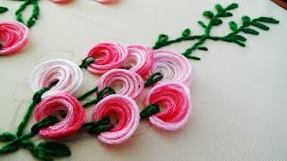 Hand Embroidery: Boatneck Embroidery For Blouses/Churidar