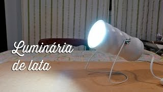 getlinkyoutube.com-Luminária de lata
