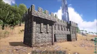 getlinkyoutube.com-ARK: Survival Evolved: How to Build Medieval Castle Walls Tutorial