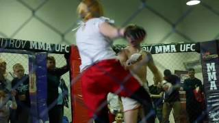 Girl vs guy mma fight