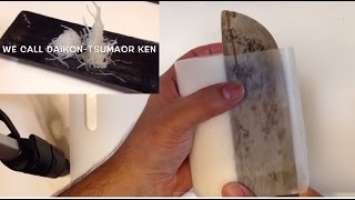 getlinkyoutube.com-桂剥きの剥き方~大根つまの作り方~寿司屋の板長が教えるSTEP1桂剥きの剥き方、作り方