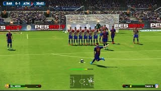 PES 2017 Demo PS4 Gameplay - FC Barcelona Vs Atlético de Madrid