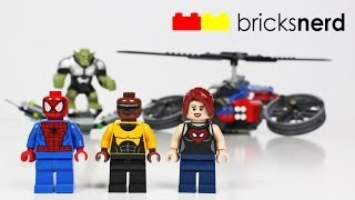 getlinkyoutube.com-LEGO Spider Man Spider-Helicopter Rescue (76016) Review